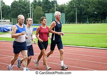 달리기, 그룹