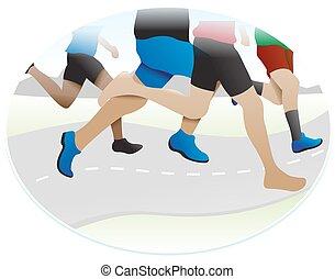 달리기, 삽화