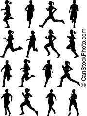 달리기, 소녀