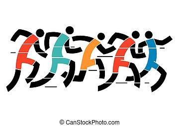 달리기, 인종