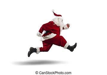 달리기, claus, santa