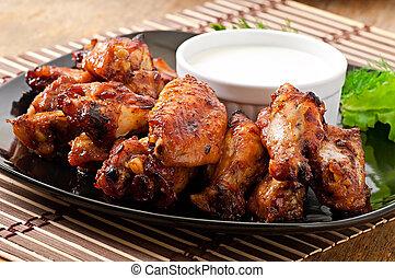 닭, 굽, 날개