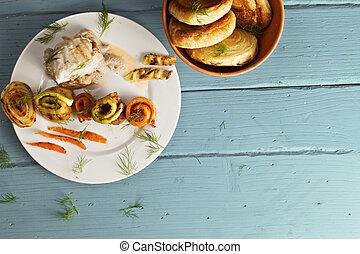 닭, 보이는 상태, 뼈가 없는, 이상, bread