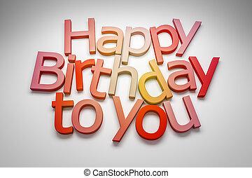 당신, 생일, 행복하다