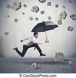 대피소, 에서, 그만큼, 폭풍우, 의, 위기