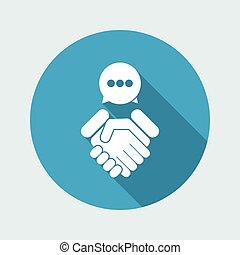 대화, 치고는, 동의, 협정, 계약