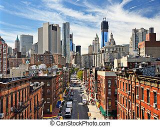 더 낮은 맨해튼, 도시 풍경