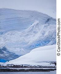 덩어리 모양의, 남극, 빙산
