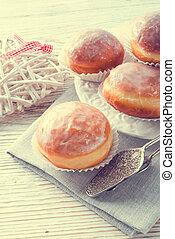 도넛, -, 포도 수확, 스타일