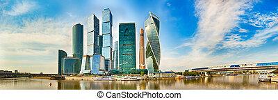 도시, 모스크바, skyline., 파노라마
