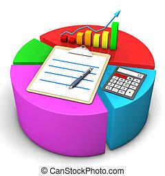 도표, 계산기, 클립 보드