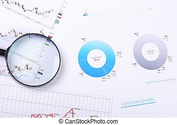 도표, 와..., 그래프, 의, 판매