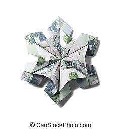 돈, 눈송이, origami