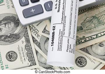 돈, 와..., 계산기, 와, 세금, form.