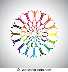 동기를 주게 된다, 개념, 사무실, 대리하다, 쾌활한, 또는, 아이콘, 역시, 벡터, 행복하가에 의하여...