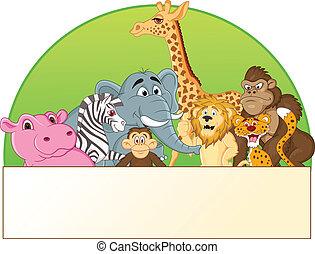 동물, 만화