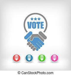 동의, 협정, 계약, 치고는, 은 투표한다