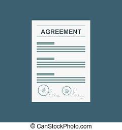 동의, 협정, 계약