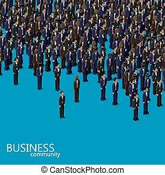 동일 크기다, 사업, communi, 삽화, 벡터, 정치, 또는, 3차원