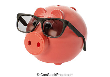 돼지 저금통, 와, 색안경