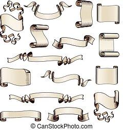 두루마리, 기치, 와..., 기, 디자인 성분