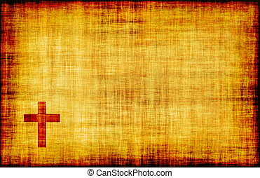 두루마리, 종이, 십자가, 신성한, 양피지
