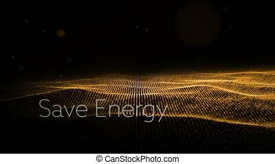 디지털, 생성된다, 비디오, 의, 에너지, 개념
