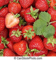 딸기, 딸기, 장과, 배경, 과일, 장과, 빨강