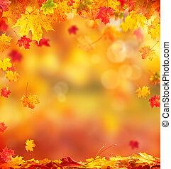 떼어내다, 가을, 배경, 와, copyspace