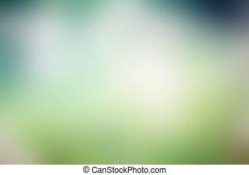 떼어내다, 경사, 배경, 와, 파란과 녹색, 색