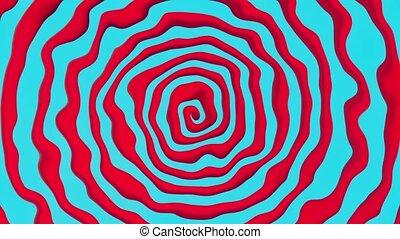 떼어내다, 나선, 에서, 빨강, 그리고 푸른색