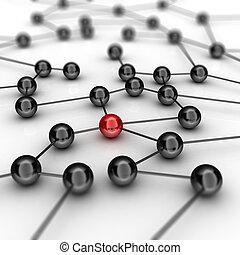 떼어내다, 네트워크