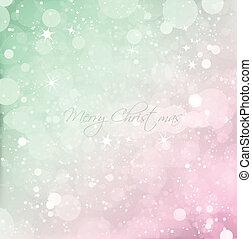 떼어내다, 눈, 크리스마스, 벡터, 배경, texture.