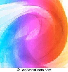 떼어내다, 다채로운, 배경