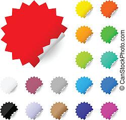 떼어내다, 다채로운, 상표