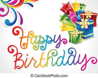 떼어내다, 다채로운, 생일 카드