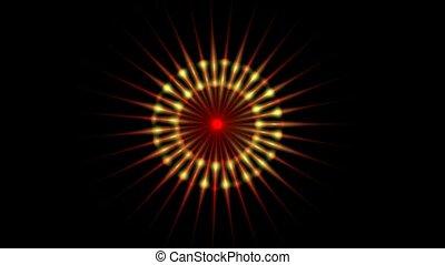 떼어내다, 색, 빛, 패턴, 광선, 빛