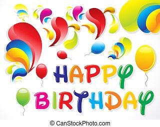 떼어내다, 생일, 다채로운, 카드