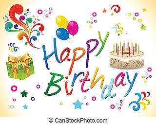 떼어내다, 생일, 배경, 행복하다