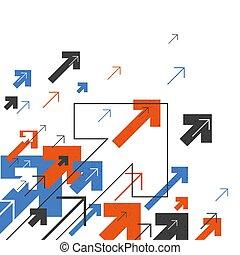 떼어내다, 성공, concept., 성장하는, 화살, illustration., 기계의 운전, 올라가고 있는., 입신한, 배경, 덮개, 디자인, 치고는, 연보, 보고서, 소책자, etc.