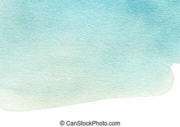떼어내다, 수채화 물감, 배경., 다채로운, 대양, 색, 예술, 손, paint., 튀김,...