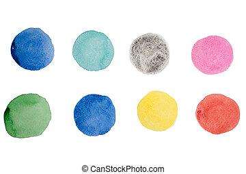 떼어내다, 수채화 물감, 예술, 손, 페인트