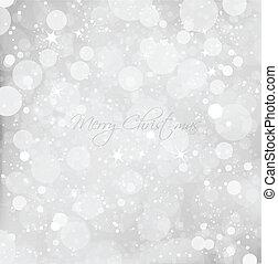 떼어내다, 크리스마스, 눈, 배경., 벡터