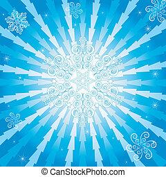 떼어내다, 크리스마스, 푸른 배경, (vector)
