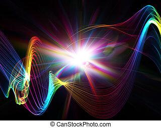떼어내다, 폭발, 광점, 다채로운
