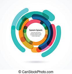 떼어내다, infographic, 다채로운, 배경