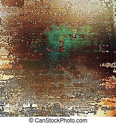 떼어내다, retro, 디자인, composition., 유행, grunge, 배경, 또는, 직물, 와, 다른, 색, patterns:, 황색, (beige);, brown;, green;, gray;, cyan