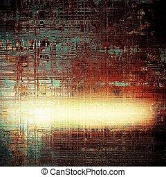 떼어내다, retro, 디자인, composition., 유행, grunge, 배경, 또는, 직물, 와, 다른, 색, patterns:, 황색, (beige);, brown;, black;, blue;, 빨강, (orange)