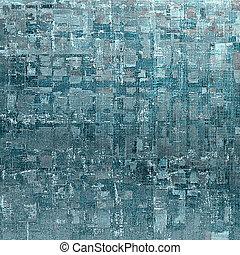 떼어내다, retro, 디자인, composition., 유행, grunge, 배경, 또는, 직물, 와, 다른, 색, patterns:, blue;, gray;, cyan;, 백색