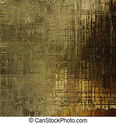 떼어내다, retro, 디자인, composition., 유행, grunge, 배경, 또는, 직물, 와, 다른, 색, patterns:, gray;, 황색, (beige);, brown;, 검정